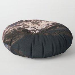 Mt Rainier Dusk Floor Pillow