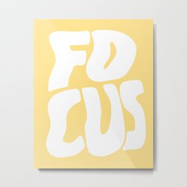 Focus Wave Metal Print