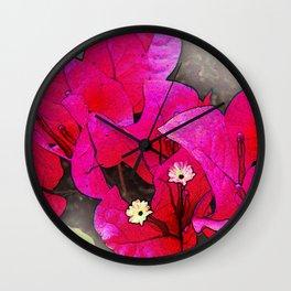 Bougainvillea Flowers Wall Clock