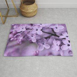 Lilac Flowers Rug