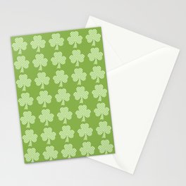 Greenery Shamrock Clover Polka dots St. Patrick's Day Stationery Cards