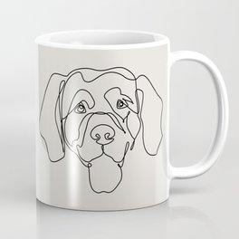 One Line Golden Retriever Coffee Mug