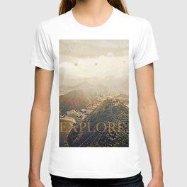 explore. golden T-shirt
