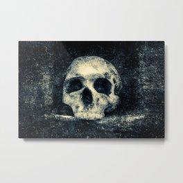 Old Skull - Memento Halloween Metal Print