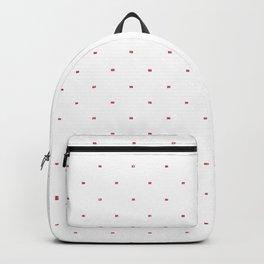 Chic minimalist white pink glitter polka dots Backpack