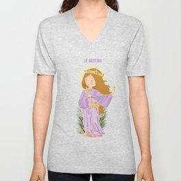 Saint Christina  Unisex V-Neck