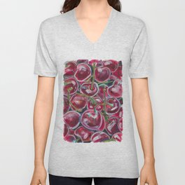 Black Cherries Unisex V-Neck