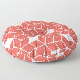 Poinsettia Stars – Coral Palette Floor Pillow