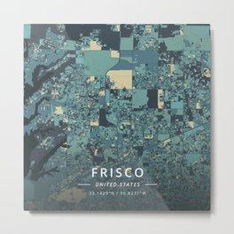 Frisco, United States - Cream Blue Metal Print