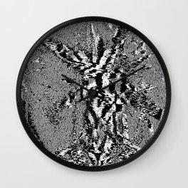 Stings or Worse (Glitch Art / Pixel)  Wall Clock