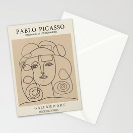 anti war - picasso lady Stationery Cards