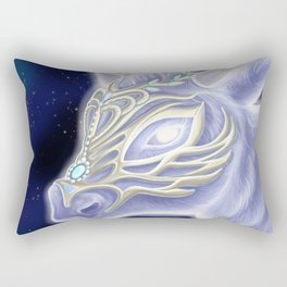 A Noble Wintacow Rectangular Pillow