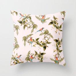 Birds in habitat Throw Pillow