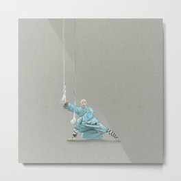 Paths to the waterfall - three - Tai Chi Metal Print