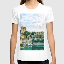 Castle | Boats at a Port South of France Collioure Incredible Medieval Scenic Views T-shirt