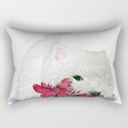Tessie Westie Dog Rectangular Pillow