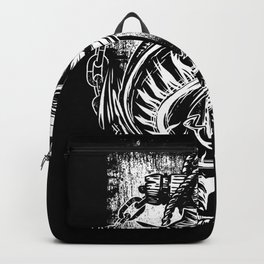 Great Fisherman design fish and anchor retro style Backpack