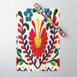 Red Mexican Flower Wrapping Paper
