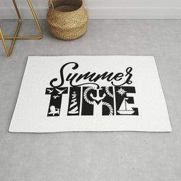 Summer TIME Nautical Black Rug