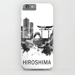 Hiroshima Japan Skyline BW iPhone Case