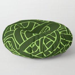 Microcosm in Green Floor Pillow
