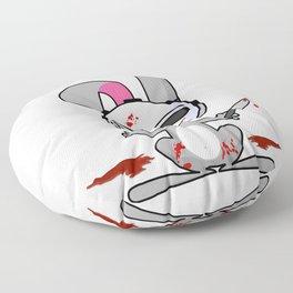 Psycho Bunny | Horror Rabbit Floor Pillow