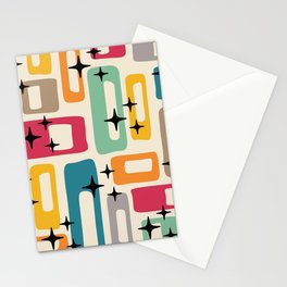 Retro Mid Century Modern Abstract Pattern 242 Stationery Cards