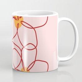 Pink Botanical Line Poster  Coffee Mug