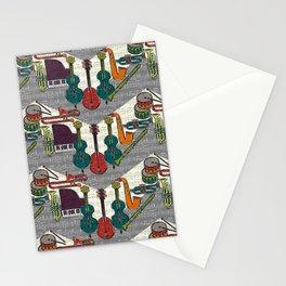 vintage ragtime chevron Stationery Cards