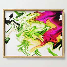 Sweeper Abstract Serving Tray