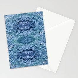Abstract Blue Wave Design 683 Stationery Cards