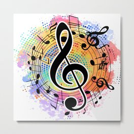 Let's Make Colorful Music Metal Print