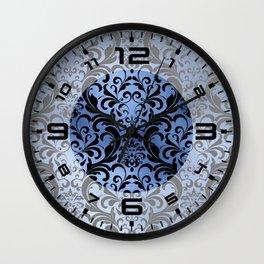 Classic Blue Swirls Damask 6 Wall Clock