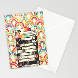 VHS & Rainbows Stationery Cards