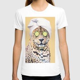 Leopard in a Towel T-shirt