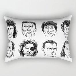 80s Action Stars Rectangular Pillow