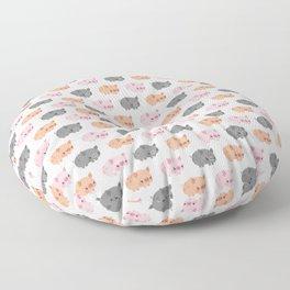 Three grumpy little pigs Floor Pillow