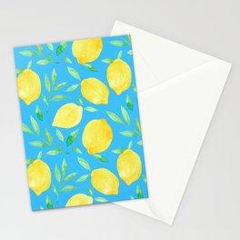 Blue Lemons Stationery Cards