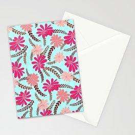 FLORAL SPREAD - AQUA Stationery Cards