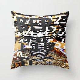 GLITCH CITY #64: Berlino Throw Pillow