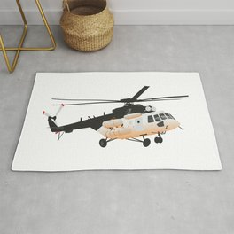 Russian Mi-171 Helicopter Rug