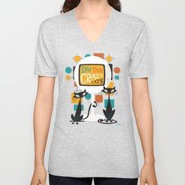 Dig Those Crazy Cats Unisex V-Neck