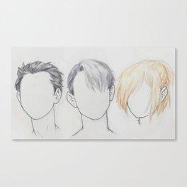 Yuuri/Victor/Yuri hair Canvas Print
