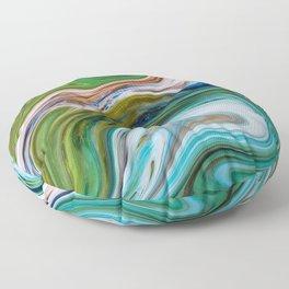 Colored Swirls 02 Floor Pillow