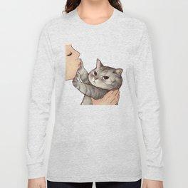 cat : hmmmmm! Long Sleeve T-shirt