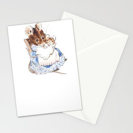 Mrs Mouse and baby Peter Rabbit  Beatrix Potter Stationery Cards