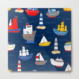 Sailing Away Out To Sea Metal Print