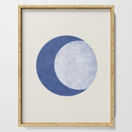 Moon Crescent - Blue Serving Tray