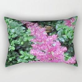 Pink Astilbe Rectangular Pillow