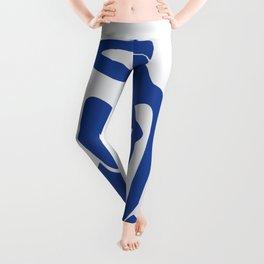 matisse abstract blue women - blue- henri matisse Leggings